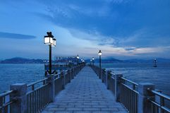 Wharf on the Gulangyu island Royalty Free Stock Photos