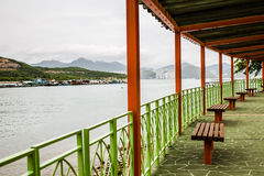 Pier in hongkong Royalty Free Stock Photo