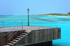 Wharf in Maldives island Royalty Free Stock Image