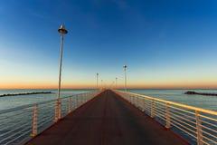 From the wharf of Marina di Massa Stock Image