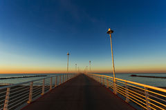 From the wharf of Marina di Massa Royalty Free Stock Image