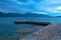 Wharf in Montenegro Stock Photography