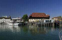 Wharf in the port of Konstanz Stock Images