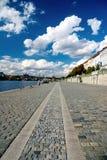 Wharf in Prague stock image