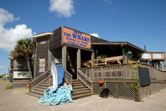 Wharf Restaurant, Port Aransas Stock Photos