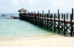 Wharf. In Sabah, Malaysia, Asia Royalty Free Stock Photography