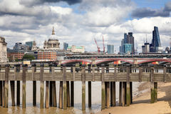 Wharf, St Paul& x27;s and the City of London Royalty Free Stock Photo