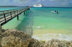 Wharf in the tropical ocean Stock Photos