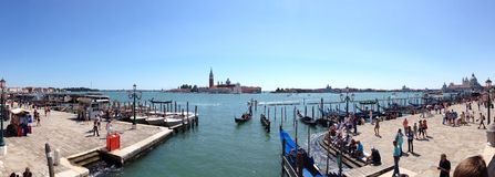 Wharf in Venice Royalty Free Stock Image