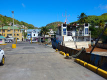 A wharf in the west indies Stock Photo
