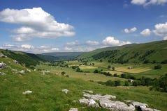 Wharfdale dans les vallées de Yorkshire image libre de droits