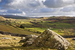 Wharfe Dale and Norber Erratics in Yorkshire Dales Royalty Free Stock Photos