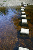 Wharfe river. Steps across the river Wharfe, West Yorkshire Royalty Free Stock Photo