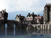 Medieval Docks Royalty Free Stock Photo