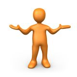What. 3d person with his hands up Royalty Free Stock Images