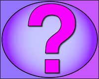 What??????????????. A question which rose in purple with stroke black and amazed Stock Image