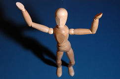 What?. Woody model posing with his hands in a questioning position Royalty Free Stock Image