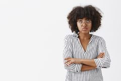 Free What A Bummer. Gloomy And Upset Good-looking African American Woman Feeling Gloomy And Regretting Plans For Night Ruined Stock Photos - 126929973