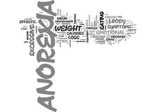 What Is Anorexia Word Cloud. WHAT IS ANOREXIA TEXT WORD CLOUD CONCEPT Stock Photo