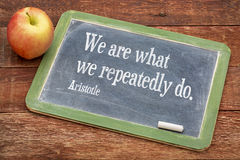We are what ... Aristotle quote Stock Photos
