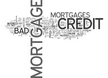 What Is A Bad Credit Mortgage Word Cloud Royalty Free Stock Photos