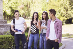 What a beautiful day to be on campus Royalty Free Stock Photo