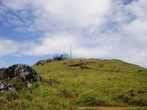 From bottom looking to the top at ponmudi royalty free stock images