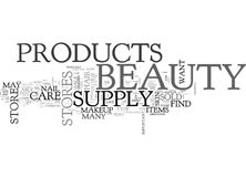What Beauty Products You May Find In A Beauty Supply Storeword Cloud Stock Image
