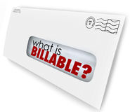 What is Billable Words Envelope Invoice Mail Charges. What is Billable words in an envelope for a bill or invoice for services rendered or products sent Royalty Free Stock Images