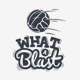What A Blast Tee Print Lettering Design With Old Fashioned Soccer Royalty Free Stock Photo