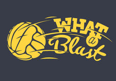 What A Blast Tee Print Lettering Design With Old Fashioned Soccer Royalty Free Stock Photography