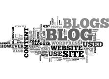 What Is A Blog And What Are Blogs Used For Word Cloud Royalty Free Stock Image