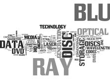 What Is Blu Ray Word Cloud Royalty Free Stock Photography