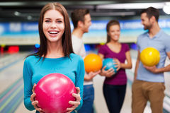 What can be better than bowling? Stock Image