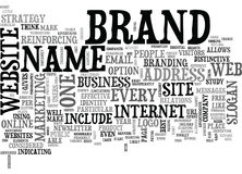 What Can A Brand Name Do For You Word Cloud Stock Images