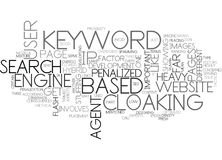 What Can Get You Penalized Word Cloud Royalty Free Stock Photo
