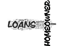 What Can Homeowner Loans Be Used For Word Cloud Royalty Free Stock Photos