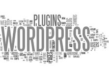 What Can Wordpress Plugins Do For You Word Cloud Royalty Free Stock Images