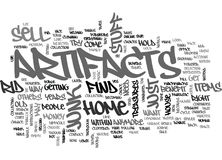 What Can You Do With Those Artifacts In Your Home Word Cloud Stock Image