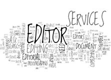 What Can You Expect From Editorial Services Word Cloud Stock Photo