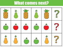 What comes next educational children game.  Royalty Free Stock Photos