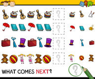 What comes next game cartoon Royalty Free Stock Image