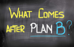 What Comes After Plan B Concept Royalty Free Stock Photo