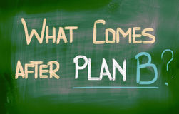 What Comes After Plan B Concept Royalty Free Stock Photography