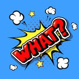 What Comic explosion pop art in vector cartoon style royalty free illustration