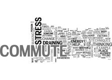 What Is It About The Commute That Drains Me Word Cloud Stock Image