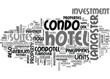 What Is A Condotel Word Cloud Royalty Free Stock Images