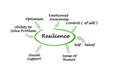 What contribute to resilience. Seven factors contributing to resilience royalty free illustration