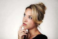 What could she be thinking Stock Photography