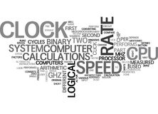 What Is Cpu Speed Word Cloud Stock Image